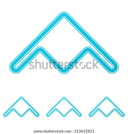 cyan line stealth bomber logo