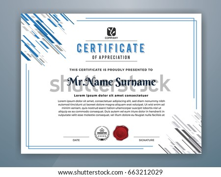 clean certificate of appreciation template design - Download Free ...