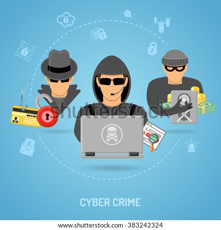 cyber crime concept with icon