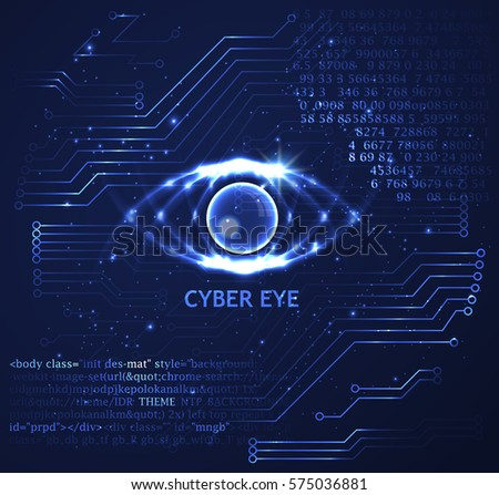 cyber eye vector background