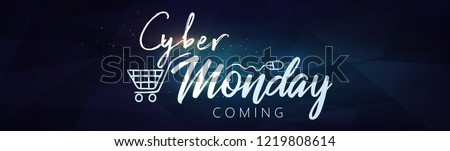 Cyber Monday Banner. Vector Illustration for your Projects. Online Shopping and Marketing Concept.