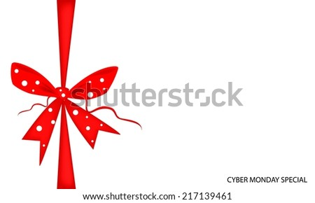 stock-vector-cyber-monday-deal-card-with-red-bows-and-ribbon-sign-for-start-christmas-shopping-season-and