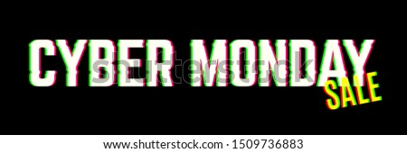 Cyber monday sale background. Announcing of a web clearance banner