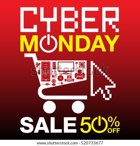 Cyber Monday Sale background. Cyber Monday sale banner design. vector illustration
