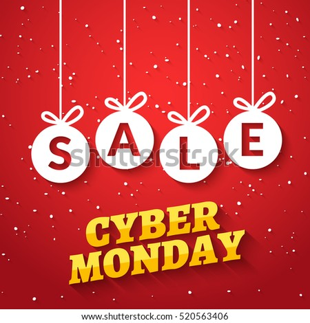 Cyber monday SALE background. Online sale offer. Internet cyber monday discount for shop
