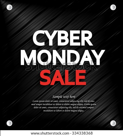 Cyber Monday Sale background with space for your text. Metal background. Vector illustration. - Shutterstock ID 334338368