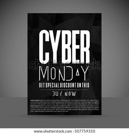 cyber monday sale poster template background brochure flyer