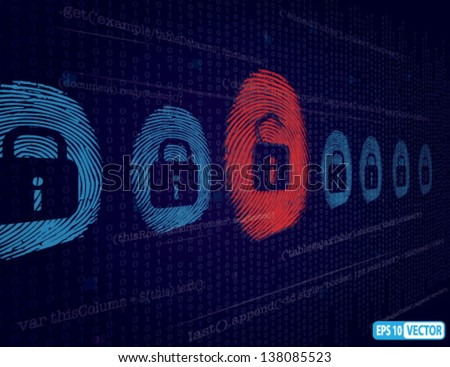 Cyber security and Hacking Concept - Vector Background