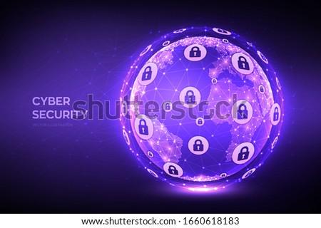 cyber security earth globe