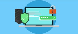 Cyber Security Expert and Ethical Hacker, Learn Cyber Security , ethical hacking, web penetration testing, Network testing,  wifi hacking, firewall and security system. flat vector illustration