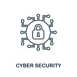 Cyber Security icon. Simple element from internet security collection. Creative Cyber Security icon for web design, templates, infographics and more