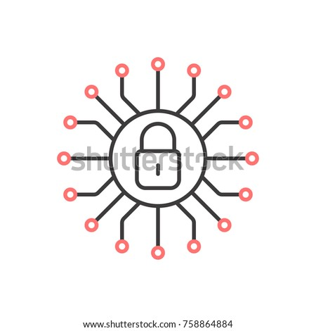Cyber security icon. Vector illustration