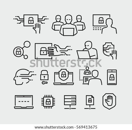 Cyber Security Vector Icons