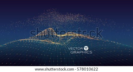 cyber vector landscape made of