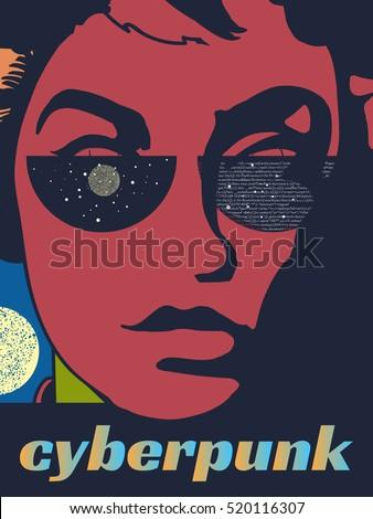 cyberpank poster futuristic