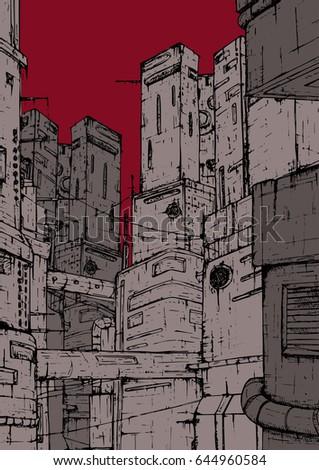 cyberpunk city fantastic