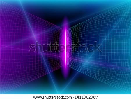 cyberspace futuristic grid