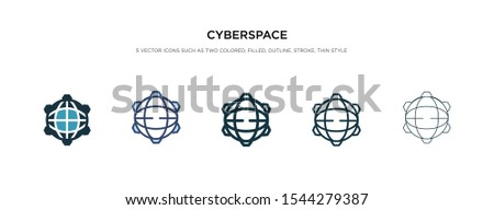 cyberspace icon in different style vector illustration. two colored and black cyberspace vector icons designed in filled, outline, line and stroke style can be used for web, mobile, ui