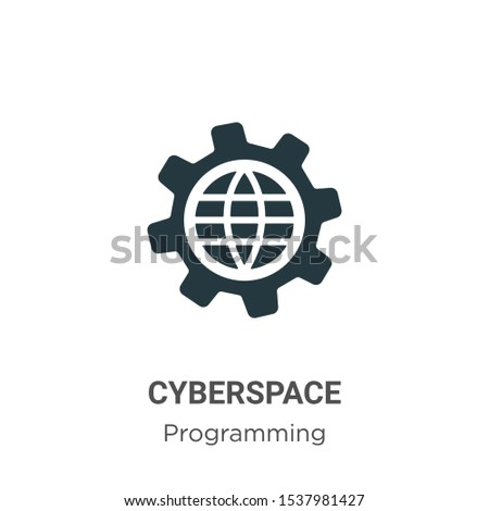 Cyberspace vector icon on white background. Flat vector cyberspace icon symbol sign from modern programming collection for mobile concept and web apps design.