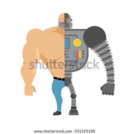 cyborg half human moiety robot