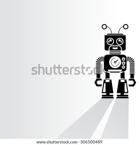 cyborg  robot on white