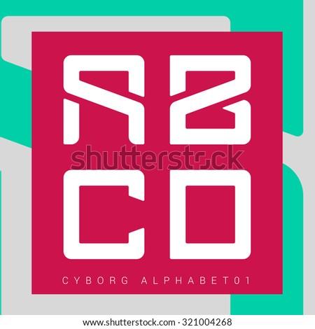 cyborg   vector graphic