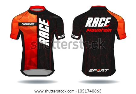 Cycle jersey. sport wear protection equipment vector illustration.