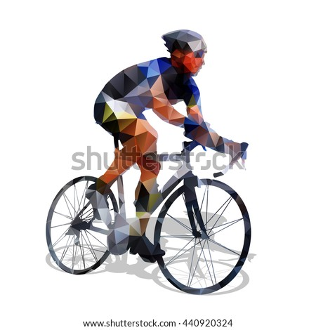 cycling abstract geometrical