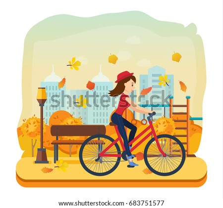 cycling autumn outdoors concept