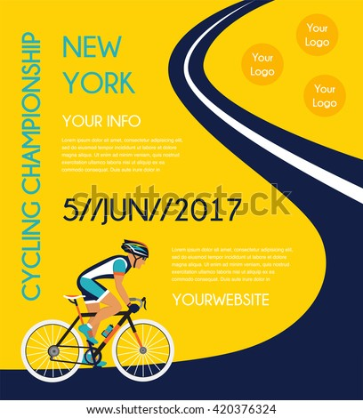 cycling competition / race poster.