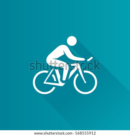 Cycling icon in Metro user interface color style. Road race tour triathlon time trial