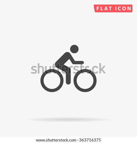 Cycling Icon Vector. Simple flat symbol. Perfect Black pictogram illustration on white background.