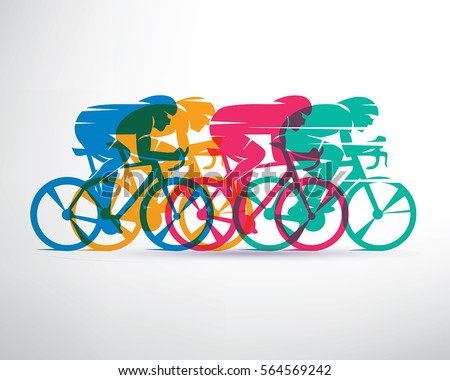 cycling race stylized