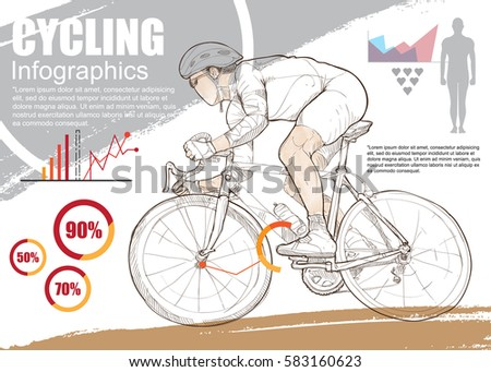 cycling sport infographic