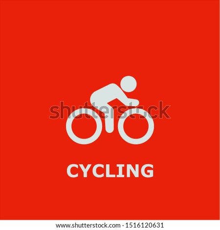 Cycling symbol. Outline cycling icon. Cycling vector illustration for graphic art.