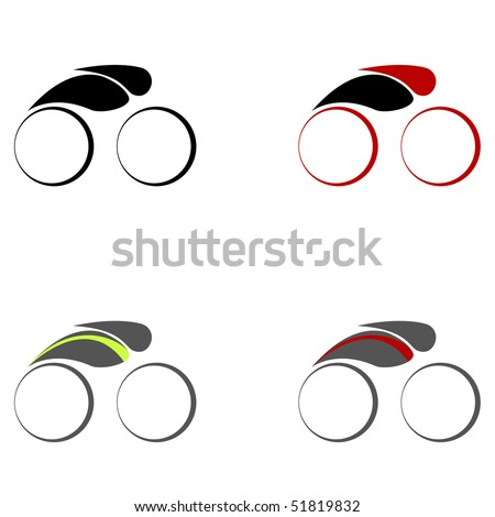 Cycling symbols.Vector illustration.