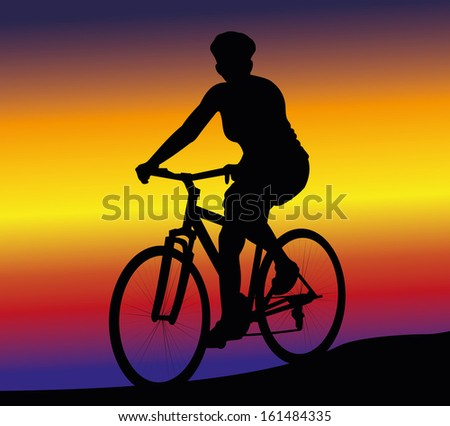 cycling   woman on the