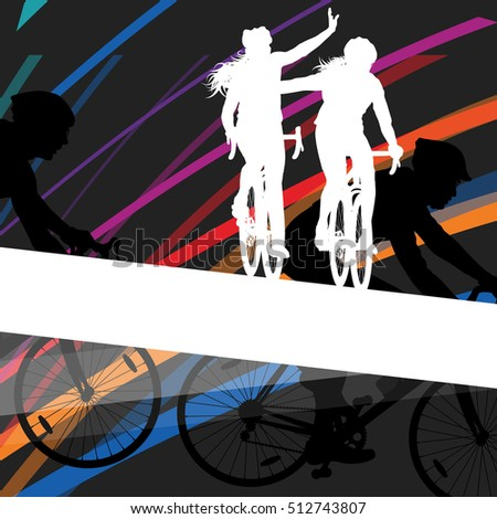 cyclist active man and woman