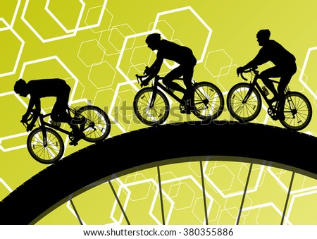 cyclist active man bicycle