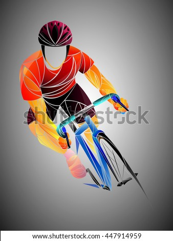cyclist, cycling, cyclist stylized vector, road cycling, cycling tour, cycling track, bicycle