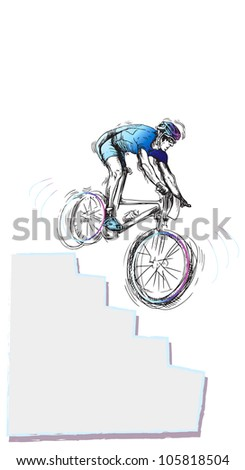 cyclist, drawing