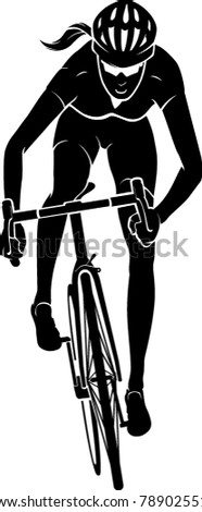 cyclist female front