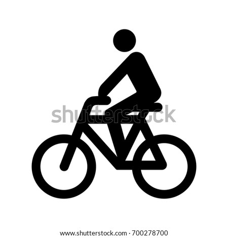 Cyclist icon.