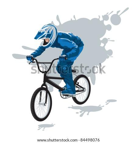 cyclist in flight