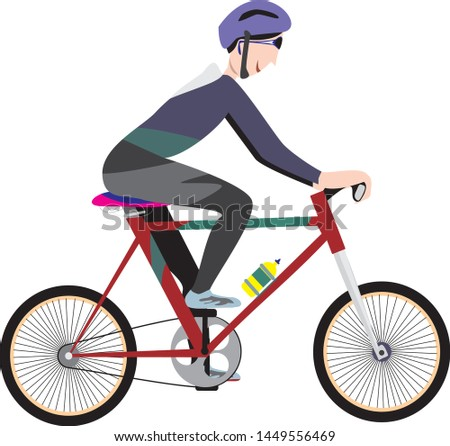 cyclist stylized vector, road cycling, cycling tour, cycling track, bicycle