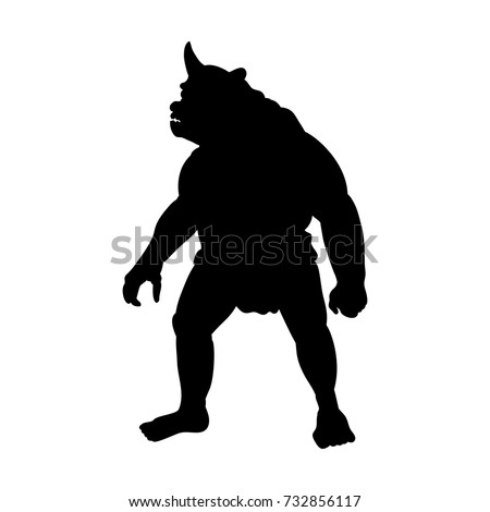 cyclops silhouette monster