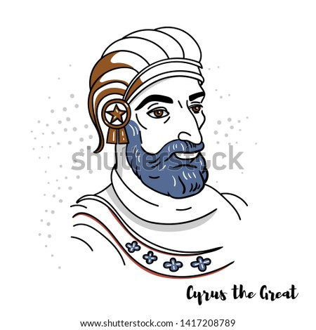 cyrus the great flat colored