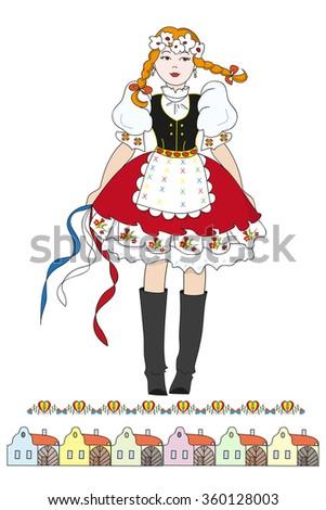 czech girl in traditional