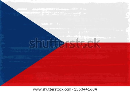 czech national flag isolated