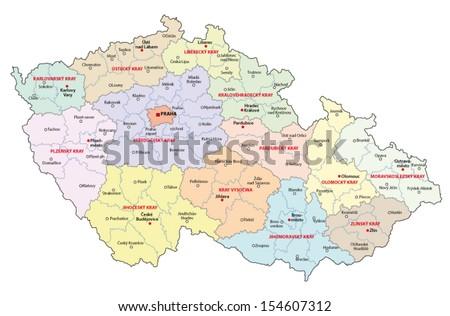 czech republic administrative map